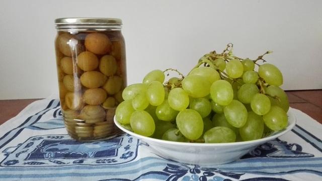 Kompot z hroznového vína recept