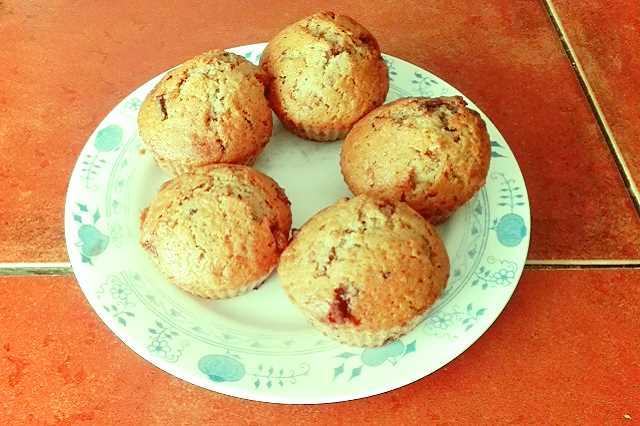 Muffiny s kousky čokolády - recept