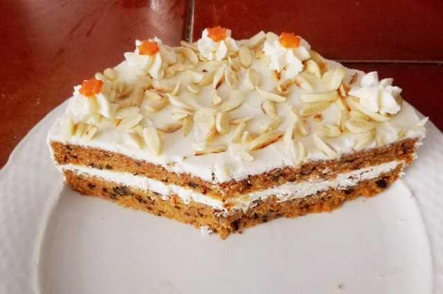 Mrkvový dort s ořechy recept